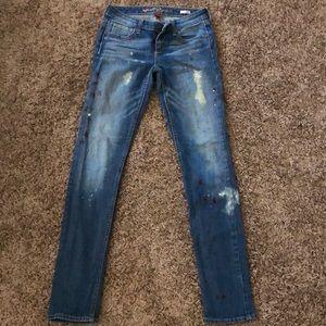 Paint Splattered Arizona Jeans